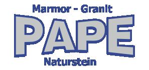 Pape Naturstein Logo