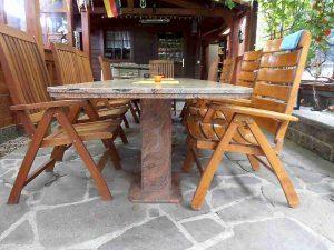 Bodengestaltung Tische und Tischplatten